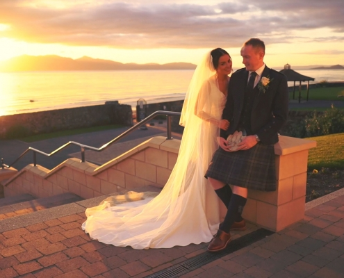 Most amazing sunset at Seamill Hydro Wedding